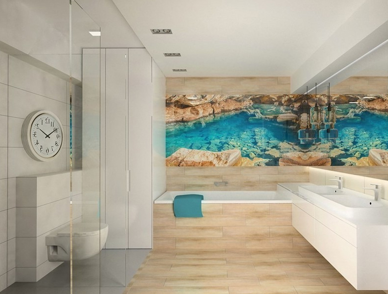 Дизайн в банята връщащ усещането за природа